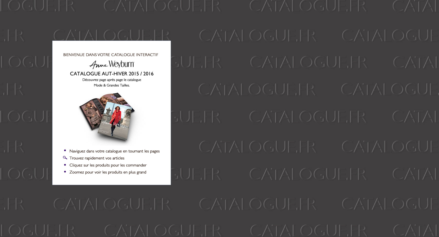 Catalogue Anne Weyburn Automne Hiver 2015